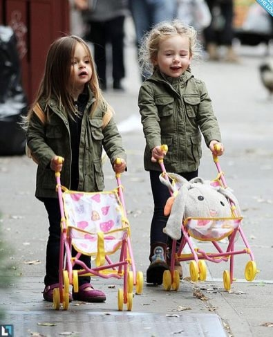 Celebrity with twins kids