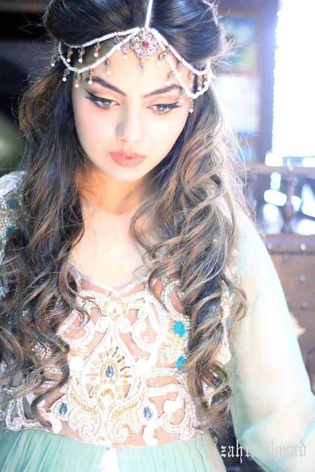 Pakistani Designer Dresses - Lowest Prices - Stylish Cut Coral and Green Dress by Zahra Ahmad - Dresses - Latest Pakistani Fashion