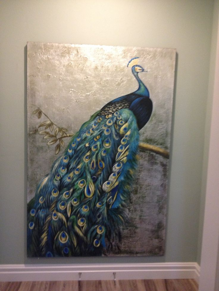 Beautiful Peacock Painting ⁀ ‿⁀ ‿ Peacocky ‿ ⁀ ‿⁀ In
