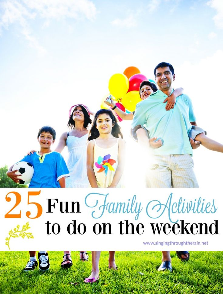 25 Fun Family Activities to do on the Weekend - Looking for something fun to do this weekend? Try one of these fun family activities that are sure to be a hit for all ages!