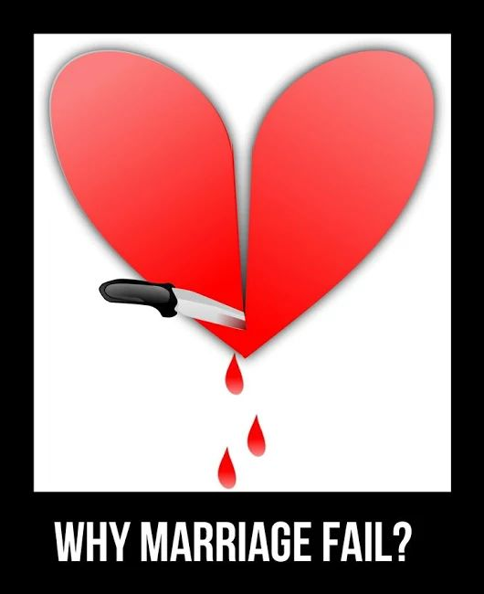 8 Serious Reasons Why Marriages Fail - Love is life