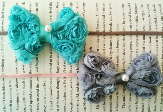 MIni Rosette Bow headband by Bellaandco on Etsy, $9.00