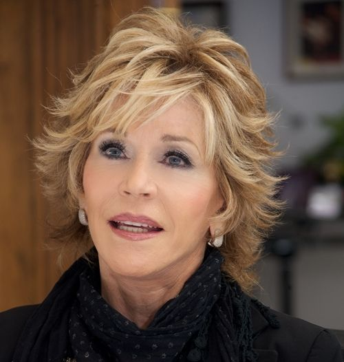 Flippy short hair has lots of sass and attitude; Jane Fonda's shaggy version can be worn either smooth or flipped so it makes it really versatile.  More short hair styles:    Short Hair Over 40 Photos  Short Hair Over 50 Photos  Top 10 Must-Knows About Short Hair Over 50