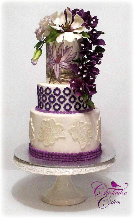 Magnolia Cake - by ChickadeeCakes @ CakesDecor.com - cake decorating website