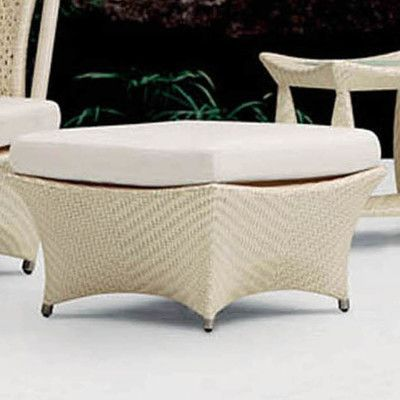 100 Essentials Zen Foot Stool with Cushions Finish: Java Antique, Fabric: Sunbrella Antique Beige
