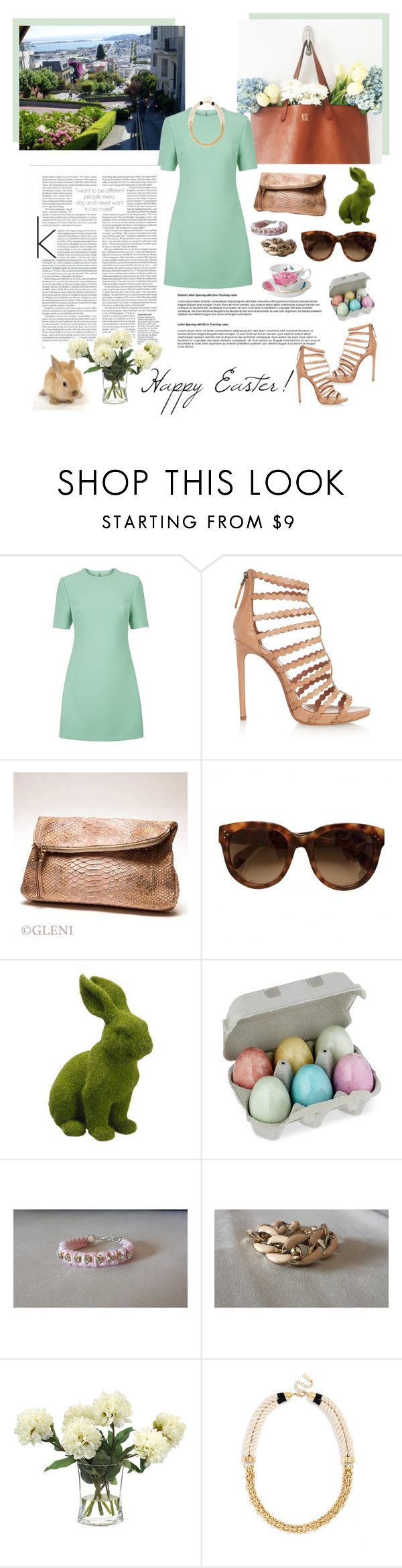 Happy Easter dear Poly friends! by inesss on Polyvore featuring moda, McQ by Alexander McQueen, Alaïa, John-Richard and Chanel