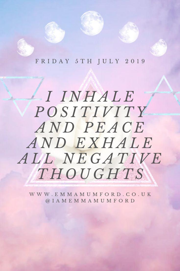 FRIDAY 5TH JULY 2019   AFFIRMATION