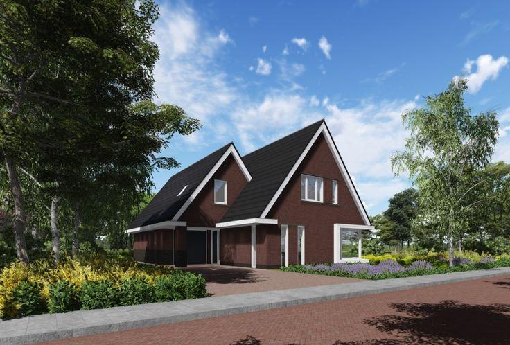In februari presenteren wij u een uniekontwerp met een verrassenduiterlijk met enkele typische jaren '30 kenmerken zoals de grote dakoverstekken, de rode steen met donkere...