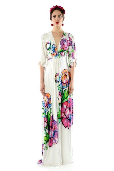 Magdalena Maxi Flower - sukienka maxi z kwiatowym printem