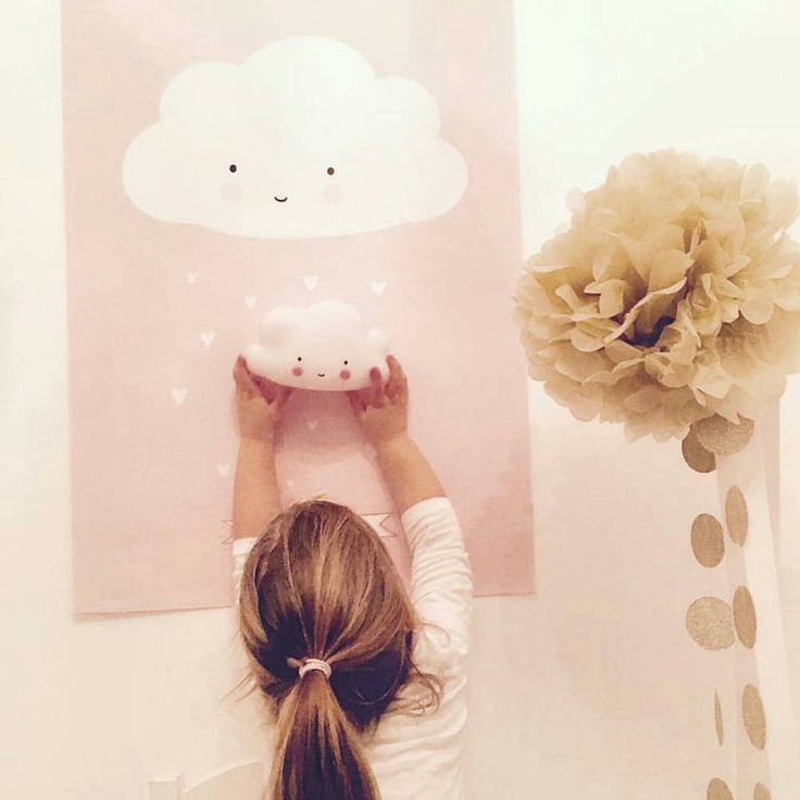 cloud poster & cloud light - too cute #cloudlight #cloudposter