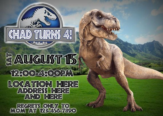 Jurassic World Invitation Design B Printable
