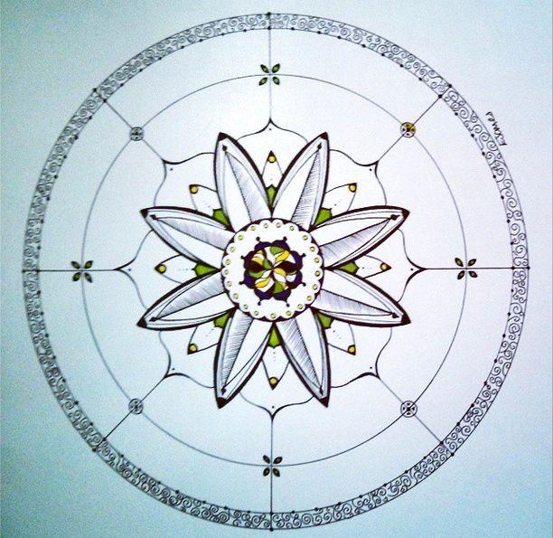 Mandala 3 by Elizabeth James : Micron, sharpie and fineliner on drawing paper #elizabethjames #lotusstartherapies #mandala #ink #100mandalas