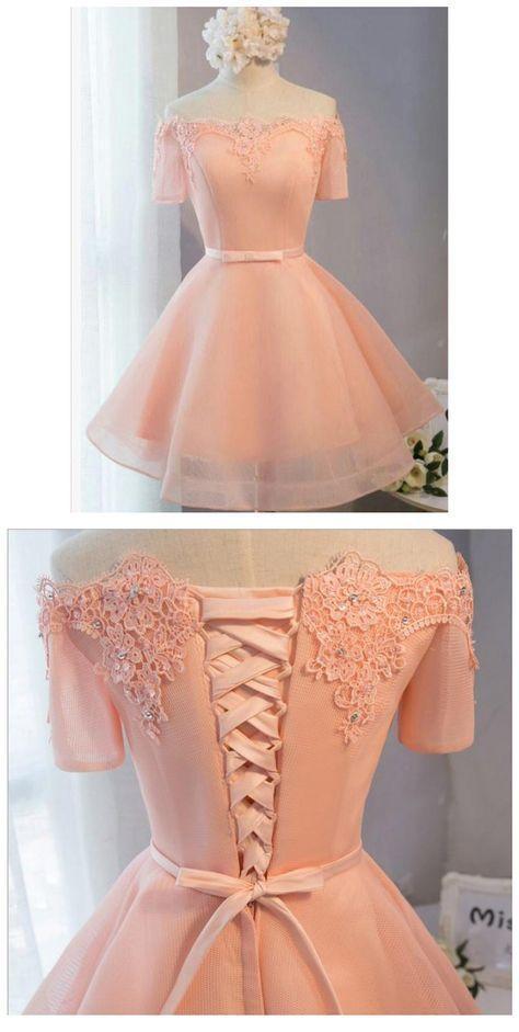 Vestidos princesa / Formato A Vestidos de boas vindas Vestidos curtos cor de rosa com atilhos Mini bandagem Vestidos de festa confortáveis   – damas