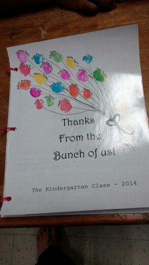 Thank you book for secretary day from class.