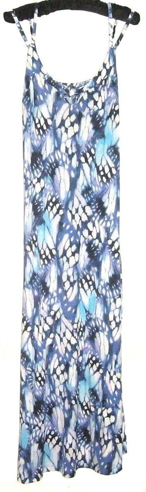 LUCY & LAUREL WHITE PRINTED COMFORT MAXI DRESS SIZE S #LucyLaurel #Maxi #anyoccasion