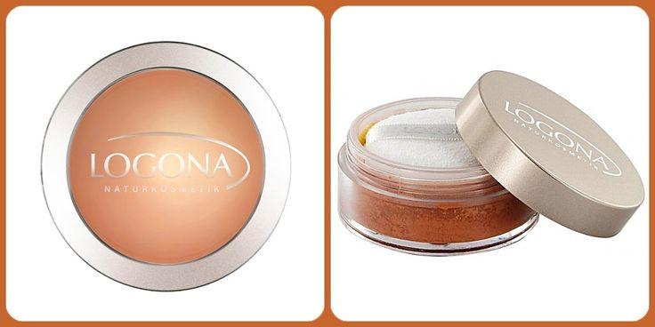 Polvos bronceadores de Logona elaborados con finas partículas minerales e ingredientes anti-envejecimiento.