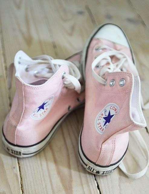 Pale pink high tops