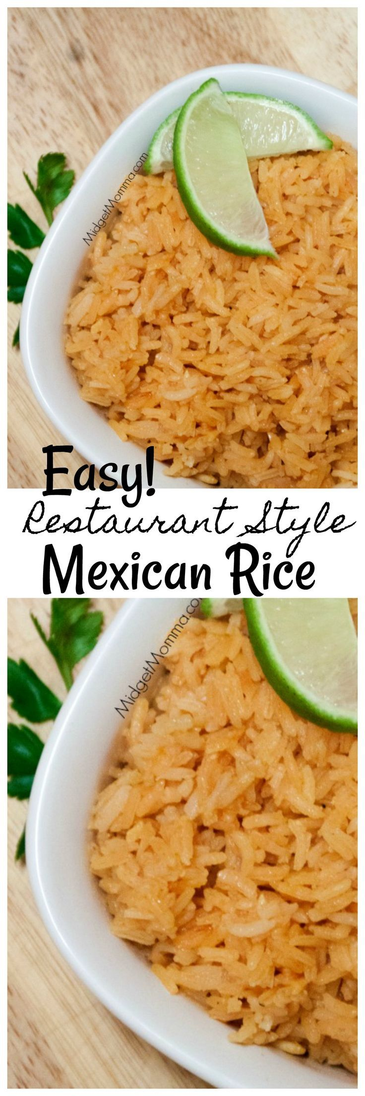 Restaurant Style Mexican rice so you can skip eating out and have a real mexican style meal at home! Plus one of the easiest mexican rice recipes ever!