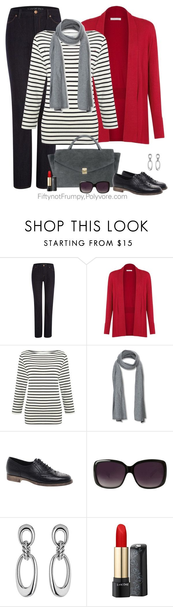 Gone Shopping by fiftynotfrumpy on Polyvore featuring Windsmoor, Lands' End, ASOS, SELECTED, Merona, Lancôme and Calle
