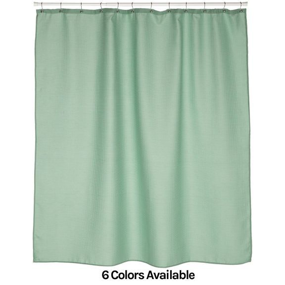 Bulk Case Pack Hotel Waffle Weave Fabric Shower Curtain 12 Pack