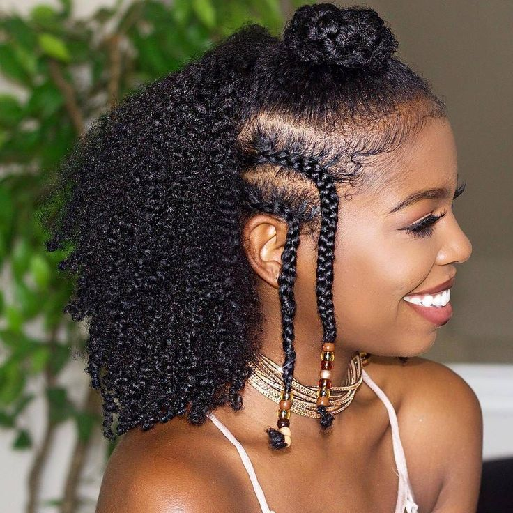 Easy Braids and Beads Natural Hairstyles with tgin