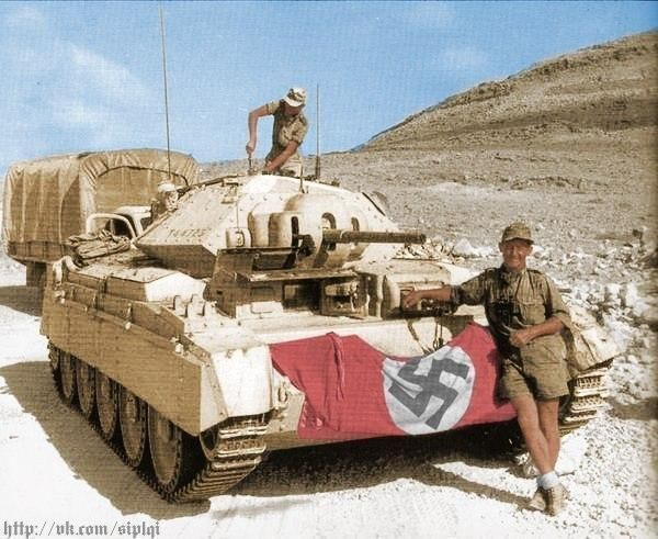 Crusader II tank in german service Afrika Korps