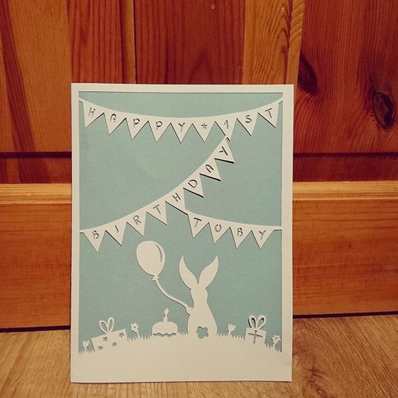 283 best word art images on pinterest silhouette projects happy birthday personalised papercut card pronofoot35fo Image collections