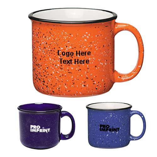 Add bling to your campaign with Custom printed 15 oz campfire ceramic mugs. #ceramicmugs #promotionalitem #drinkware #camping #campfiremug