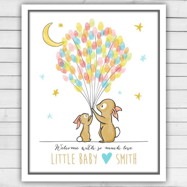 Bunnies Baby shower guestbook thumbprint guestbook Bunny baby shower fingerprint guest book Boy Blue Little Star Moon Digital Printable by Anietillustration on Etsy https://www.etsy.com/ie/listing/386548784/bunnies-baby-shower-guestbook-thumbprint
