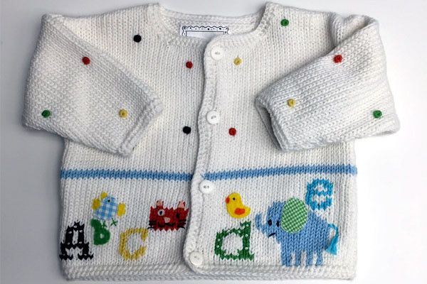 Artwalk Alphabet Soup Cotton Sweater