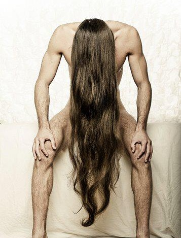 Naked guys with long hair — photo 8