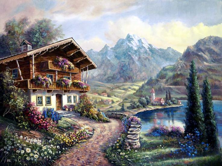 Pictures Of Landscapes For Houses 216 best carl valente images on pinterest | paintings, landscapes