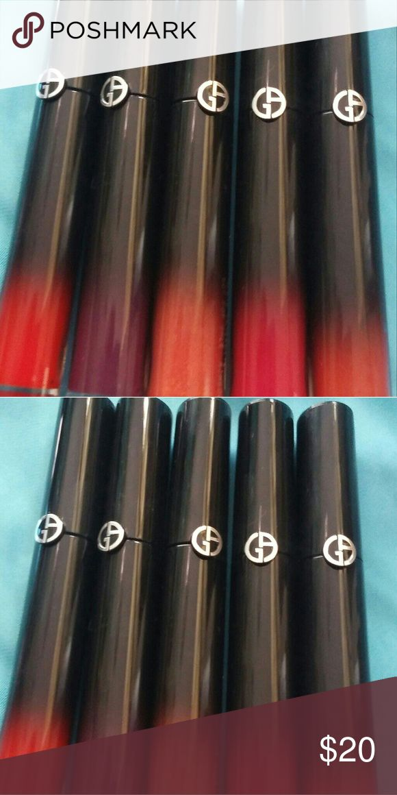 Giorgio Armani brand new ecstasy lacquer(lipstain) Very hydrating water base (Tester without box) #505 #602 Price per lacquer Giorgio Armani Makeup Lipstick