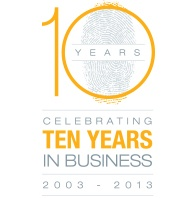 Celebrating 10 years in Business! 2003 - 2013
