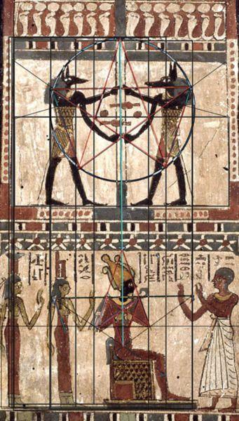 math in Egyptian art
