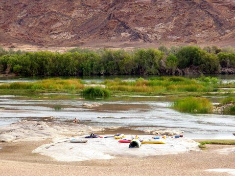 The beautiful Orange River - a river rafting trip not to miss!!
