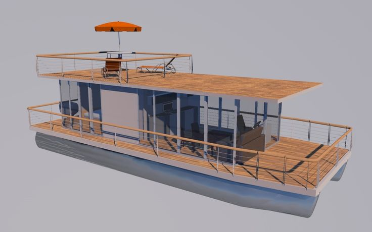 Houseboat diy 12m houseboat waterbus houseboats for Building a floating home
