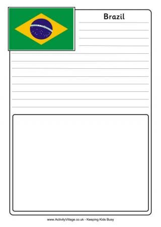 Brazil Flag Printables from Activity Village