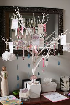 Image result for baby shower tree decor