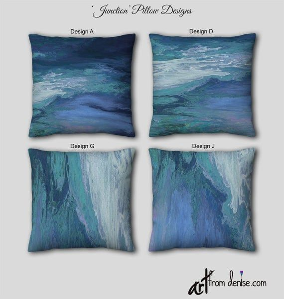Navy and teal throw pillows small or