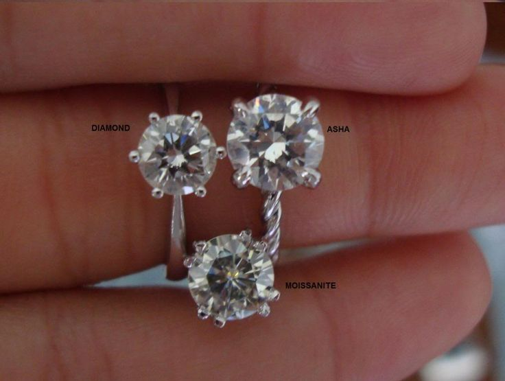 Asha Vs Moissanite Vs Diamond Dream Wedding Jewels