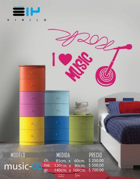 Vinilo 3 14 vinilos decorativos musicales microfono for Calcomanias para dormitorios