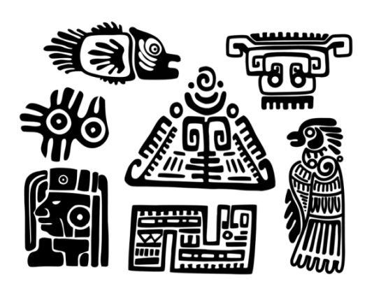 Рисунки индейцев майя и ацтеков