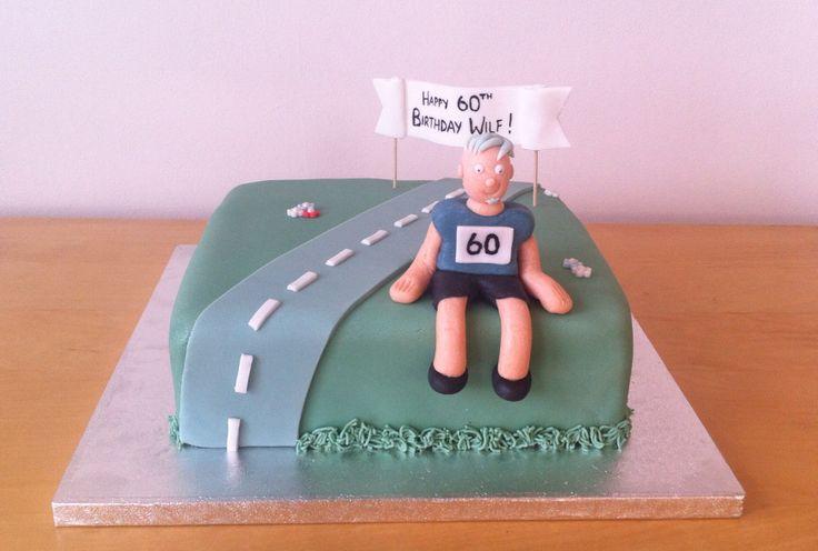 Runner birthday cake