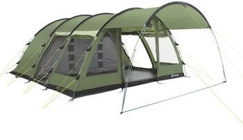 Outwell Amarillo 6 Tent - 2013 This tent has 3 sleeping sections so suitable for someone coming with us. The front camopy is zip off for sites where it would make the tent too big