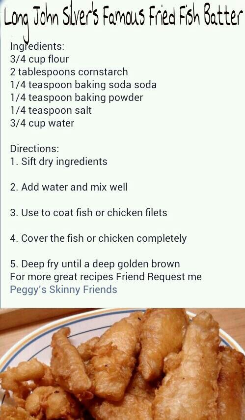 The 25 best fish batter recipe ideas on pinterest long for Captain d s batter dipped fish