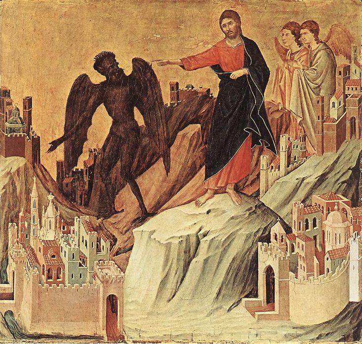 DUCCIO di Buoninsegna Temptation on the Mount 1308-11