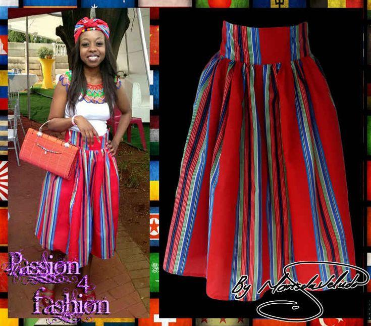 Venda Traditional Modern Dresses: High Waisted Venda Skirt