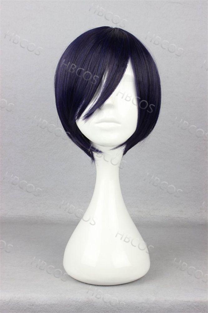 Halloween capelli corti blu nero parrucche anime cosplay noragami yato