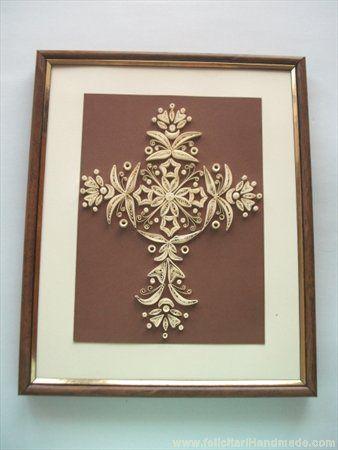Tablou cruce quilling:  beautiful cross